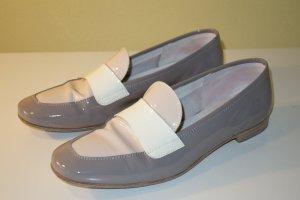 AGL Scarpa slip-on marrone-grigio-crema Pelle