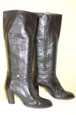 Org. AIGNER vintage Leder-Stiefel in schwarz Gr.39,5