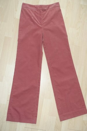Alexa Chung Corduroy Trousers bright red cotton