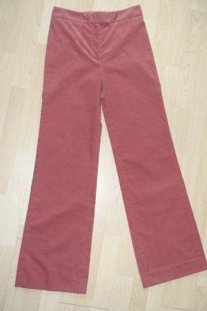 Alexa Chung Pantalone di velluto a coste rosso chiaro Cotone