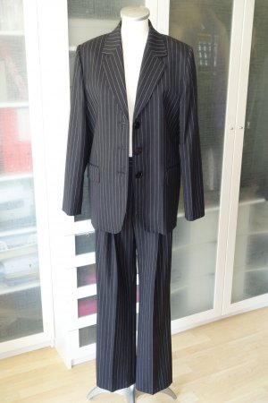 Alexa Chung Tailleur-pantalon noir-gris clair laine