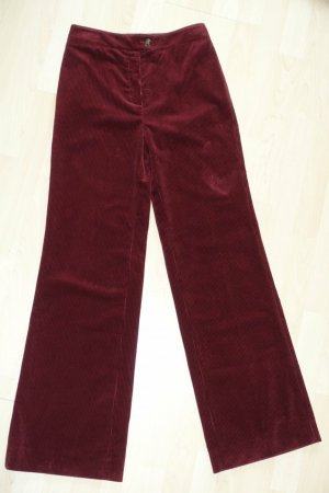 Alexa Chung Corduroy Trousers bordeaux cotton