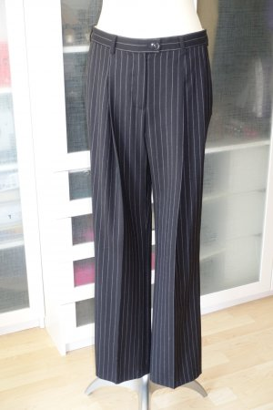 Alexa Chung Pantalon en jersey noir-gris clair laine
