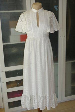 Org. ALEXA CHUNG Maxi Cape dress in weiß Gr.36 NEU+Etikett