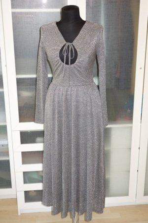 Alexa Chung Maxi Dress light grey-silver-colored viscose