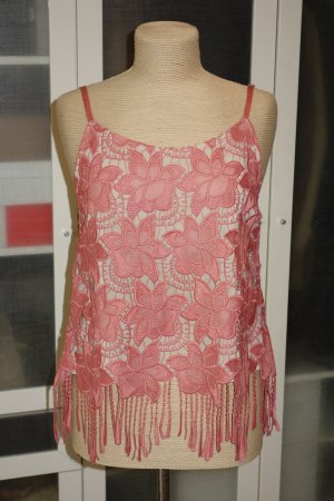 Alice + Olivia Lace Top bright red