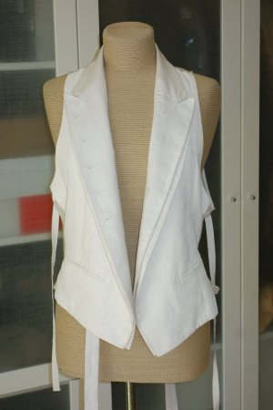 Org. ANN DEMEULEMEESTER Weste in offwhite/creme Gr.36