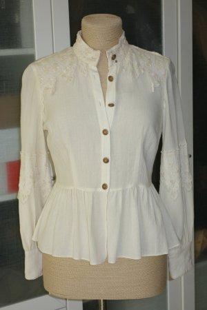 Anna Sui Camicetta a maniche lunghe crema