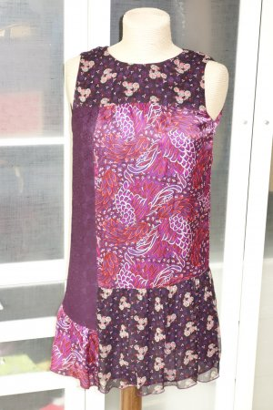 Anna Sui Dress bordeaux-purple silk