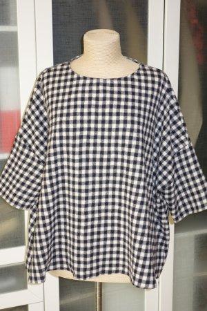 Org. APUNTOB oversized Pullover aus Wolle kariert Gr.34-46