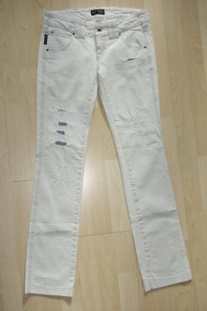 Org. ARMANI Jeans straight leg distressed Jeans in hellblau Gr.25