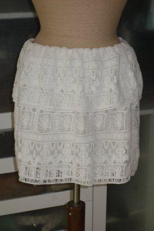 Ba&sh Lace Skirt natural white cotton