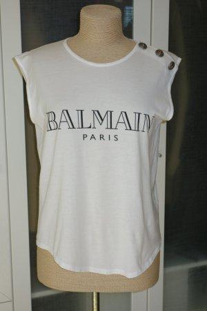 Org. BALMAIN Shirt/Top mit Knöpfen an der Schulter Gr.40