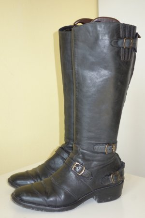 Belstaff Biker Boots black leather