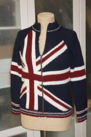 Benetton Coarse Knitted Jacket multicolored wool
