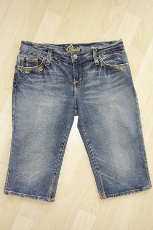 Org. BLUE CULT skinny Jeans Short mit heller Waschung Gr.27