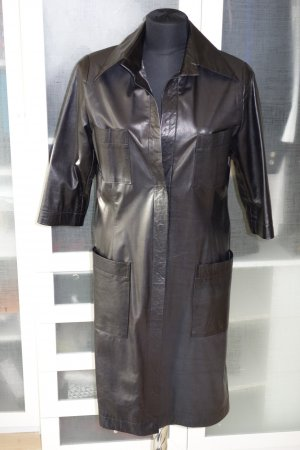 Blumarine Leather Coat black leather