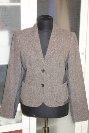 Org. BOGNER Woll-Blazer in braun-grau Gr.38