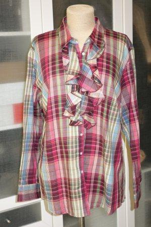 Brigitte von Boch Geruite blouse veelkleurig Katoen