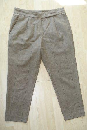 Brunello Cucinelli Pantalone a 7/8 marrone-grigio Lana