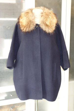 Brunello Cucinelli Cappotto corto blu scuro Lana