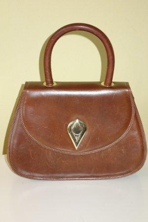 Org. BRUNO MAGLI vintage Tasche in cognac Leder
