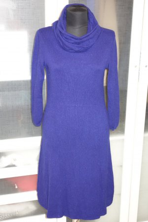 Bruno Manetti Knitted Dress blue violet cashmere
