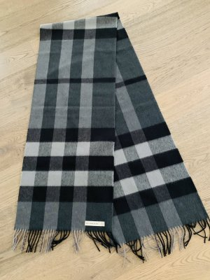 Burberry Fringed Scarf black-grey
