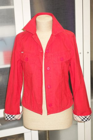 Burberry Shirt Jacket red cotton