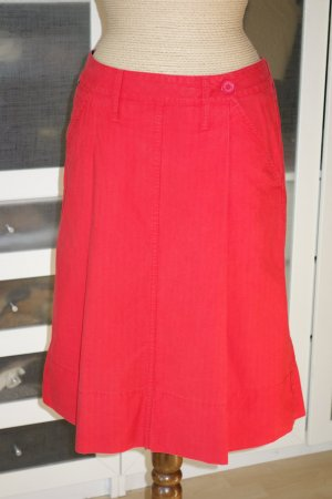 Burberry Midi Skirt red cotton