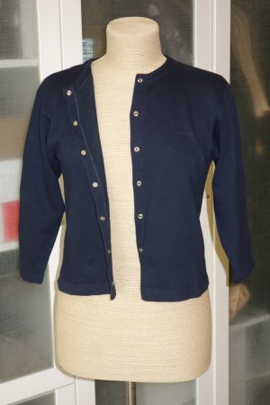 Org. CACHAREL Kurz-Strickjacke in dunkelblau Gr.34/36
