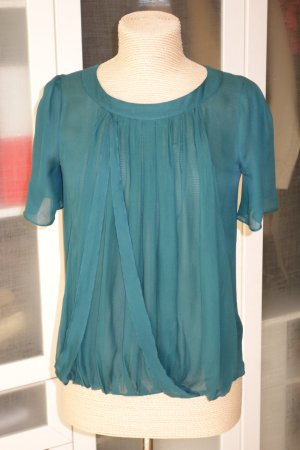 Chloé Silk Blouse forest green silk