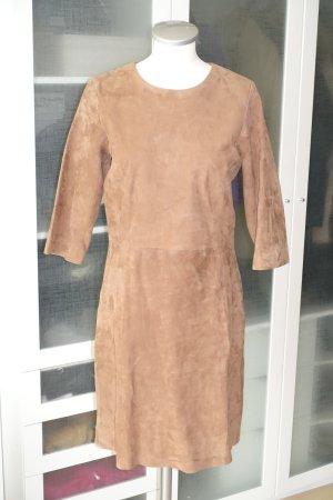 Closed Robe en cuir marron clair cuir