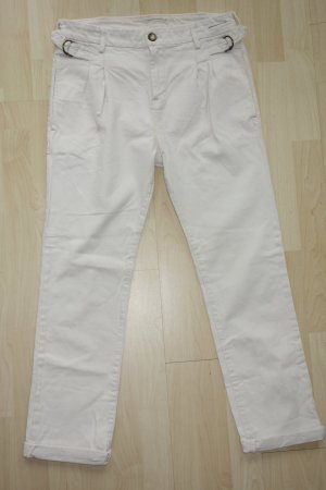 "Org. CURRENT ELLIOTT ""the pleated trouser"" boyfriend Jeans in weiß Gr.26"