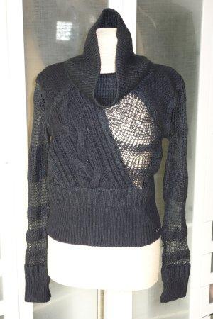 Org. DIESEL Rollkagen-Pullover mit transparenten Details Gr.S