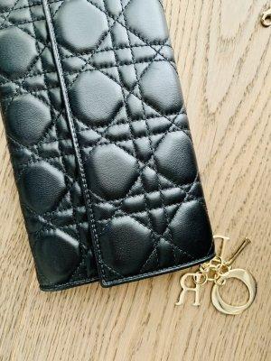 Org. DIOR Brieftasche Clutch *ausverkauft* Lammleder schwarz WIE NEU