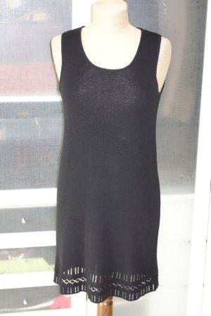 Org. DKNY Strickkleid in schwarz mit cut out Details Gr.M