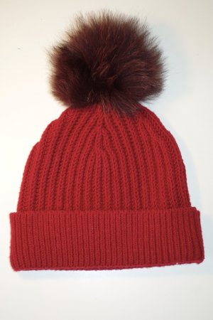 Dolce & Gabbana Knitted Hat dark red-neon red