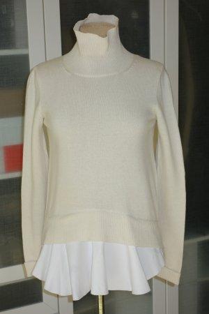 Org. DONDUP Rollkragen-Pullover aus Wolle/Kaschmir in creme/weiß Gr.M