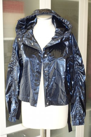 Org. DOROTHEE SCHUMACHER cropped Jacke in dunkelblau metallic neuwertig