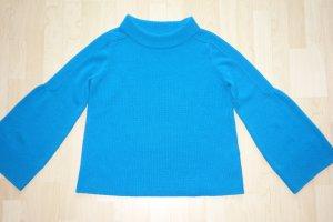 Org. DOROTHEE SCHUMACHER Grobstrick-Pullover aus Kaschmir in royalblau Gr.40