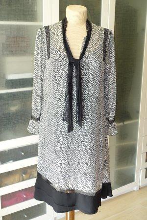 Org. DOROTHEE SCHUMACHER Kleid aus Seide mit Print und Spitzen-Details A-Linie Gr.40
