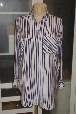 Org. DOROTHEE SCHUMACHER oversized long Bluse aus Seide mit Streifen Gr.36