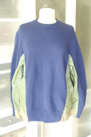Org. DOROTHEE SCHUMACHER oversized Pullover aus Wolle/Kaschmir mit Nylon-Einsätzen Gr.36
