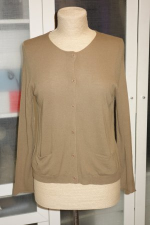 Org. DRIES VAN NOTEN Strickjacke in beige/camel Gr.36/38