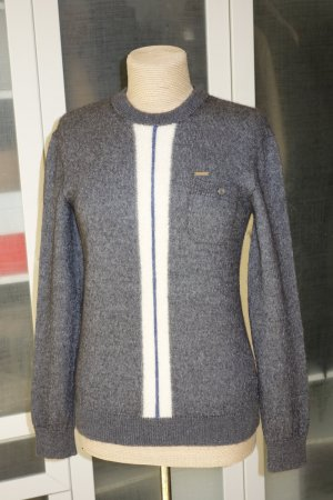 Org. DSQUARED Pullover in grau Alpaka/Seide Gr.36/38 (M)