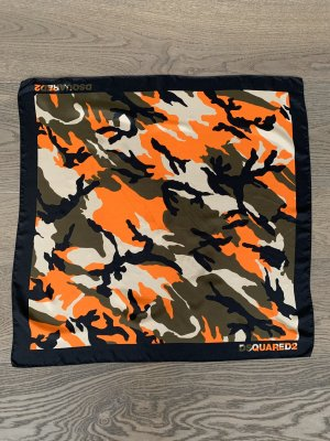 Org. DSQUARED2 Seidentuch Camouflage Foulard wie NEU