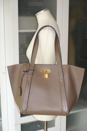 Org. ESCADA Shopper/Schultertasche aus Leder in taupe NEU+inkl.Dustbag