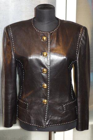 Org. ESCADA vintage Lammleder-Jacke mit Ziernähten Gr.36