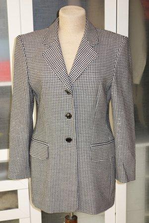 Org. ESCADA vintage long Blazer mit Hahnentrittmuster Wolle/Kaschmir Gr.38
